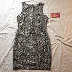 Emerald Sundae Black And White Sheath Dress NWT